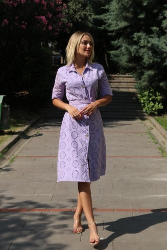 kiyafetbudur - Fisto Gömlek Elbise-5263